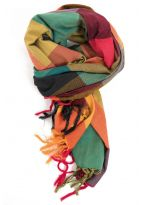 Foulard cheche etole new madras sunny jungle