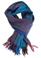 Cheche foulard coton basic ethnic degrade turquoise chine