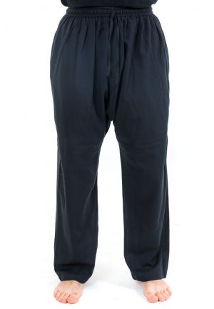 Pantalon sarwel droit traditionnel Nepal noir zoom