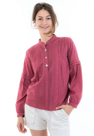 Blouse chemisier dos original dentelle face