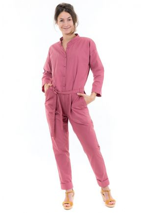Combi pantalon saharienne brique rose face