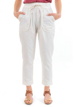 Pantalon carotte casual naturel Bhanilako zoom