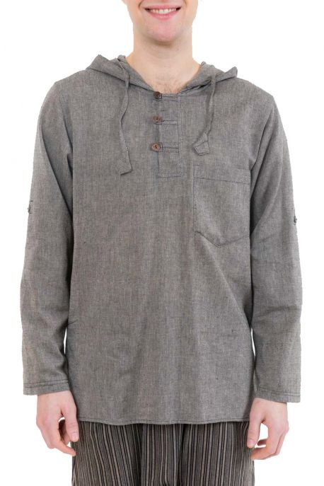 Chemise ethnique transformable capuche Paoh zoom