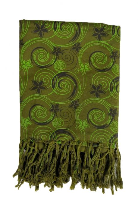 Cheche foulard babacool flowers in the wind kaki