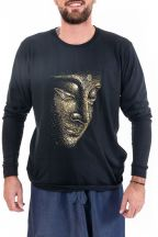 T-shirt manches longues homme Bouddha or