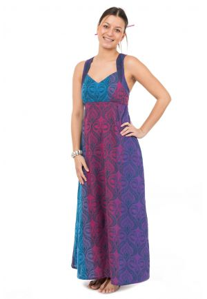 Robe longue ethnic chic print original Swanah